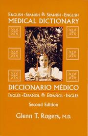 Cover of: English-Spanish/Spanish-English Medical Dictionary
