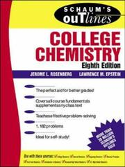 Cover of: Schaum's outline of theory and problems of college chemistry