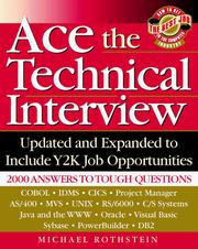 Cover of: Ace the technical interview | Michael F. Rothstein