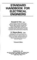 Cover of: Standard handbook for electricalengineers. |