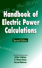 Cover of: Handbook of electric power calculations |