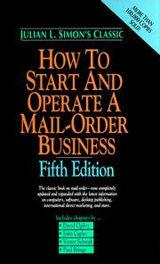 Cover of: How to start and operate a mail-order business | Julian Lincoln Simon