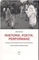 Cover of: Rhetorik, Poetik, Performanz