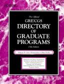 Cover of: The Official Gre Cgs Directory of Graduate Programs: Arts Humanities Other Fields (Directory of Graduate Programs: Vol. D: Arts, Humanities & Other Fields) | Educational Testing Service.