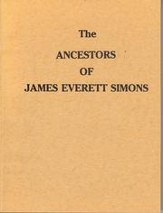 Cover of: The Ancestors of James Everett Simons Simons and Thompson lines