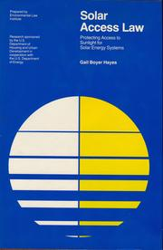 Cover of: Solar access law | Gail Boyer Hayes