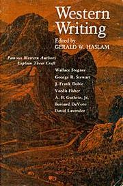 Cover of: Western Writing