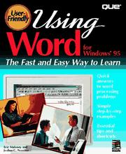 Cover of: Using Word for Windows 95