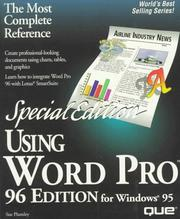 Cover of: Using Word Pro 96 for Windows 95