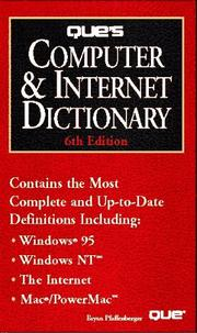Cover of: Que's computer & Internet dictionary