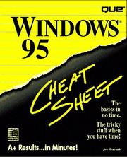 Cover of: Windows 95 cheat sheet