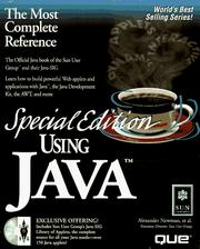 Cover of: Special Edition Using Java (Special Edition Using) | Alesander Newman