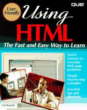 Cover of: Using HTML