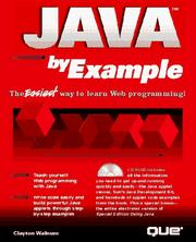 Cover of: Java by example
