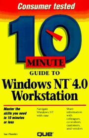 Cover of: 10 minute guide to Windows NT workstation 4.0