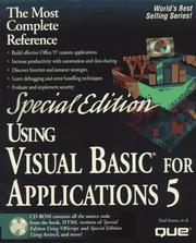 Cover of: Using Visual Basic for Applications 5