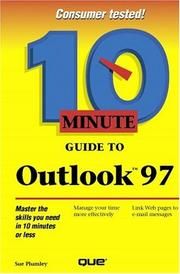 Cover of: 10 Minute Guide to Outlook 97 (10 Minute Guides (Computer Books))