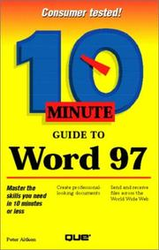 Cover of: 10 minute guide to Microsoft Word 97