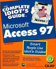 Cover of: The Complete Idiot's Guide to Microsoft Access 97