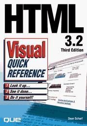 Cover of: HTML 3.2 visual quick reference | Dean Scharf