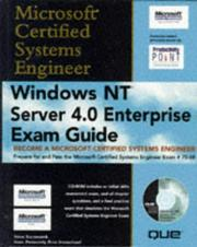 Cover of: Windows NT Server 4.0 Enterprise Exam guide | Steve Kaczmarek