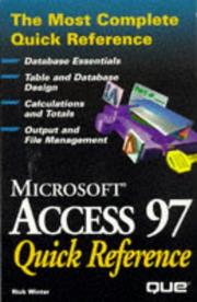 Cover of: Microsoft Access 97 quick reference