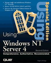 Cover of: Using Windows NT Server 4