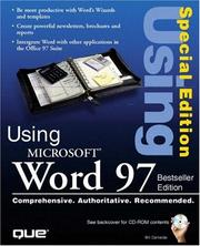 Cover of: Special Edition Using Microsoft Word 97, Best Seller Edition (2nd Edition) | Bill Carmada
