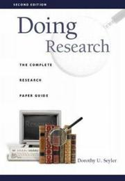 Cover of: Doing research