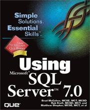 Cover of: Using Microsoft SQL Server 7.0 |
