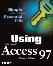 Cover of: Using Microsoft Access 97 | Susan Sales Harkins