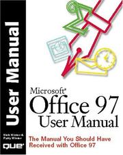 Cover of: Microsoft Office 97 user manual