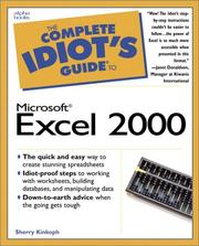 Cover of: The complete idiot's guide to Microsoft Excel 2000