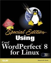 Cover of: Using Corel WordPerfect 8 for Linux