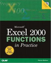 Cover of: Microsoft Excel functions in practice