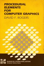 Cover of: Procedural elements for computer graphics | David F. Rogers