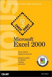Cover of: Microsoft Excel 2000