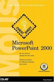 Cover of: Microsoft PowerPoint 2000 Microsoft Office User Specialists Cheat Sheet