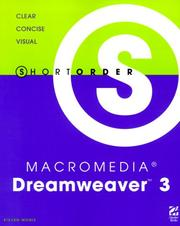 Cover of: Short order Macromedia Dreamweaver 3