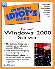 Cover of: The complete idiot's guide to Microsoft Windows 2000 server