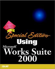 Cover of: Special Edition Using Microsoft Works Suite 2000 (SE Using) | Faithe Wempen