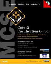 Cover of: MCSE Core Certification Exam Guide 6-in-1 (Exam Guides) | Emmett Dulaney