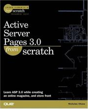 Cover of: Active Server Pages 3.0 From Scratch | Nicholas Chase