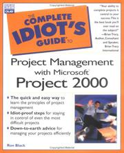 Cover of: The complete idiot's guide to project management with Microsoft Project 2000