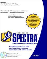 Cover of: Allaire Spectra e-business construction kit