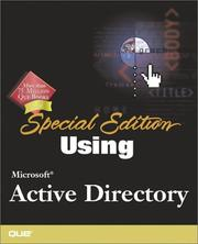 Cover of: Special Edition Using Microsoft Active Directory | James Hudson