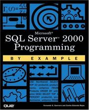 Cover of: SQL Server 2000 Programming by Example | Carlos Rojas