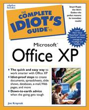 Cover of: The Complete Idiot's Guide to Microsoft Office XP