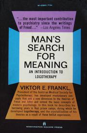 Cover of: Man's Search for Meaning
