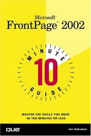 Cover of: Microsoft FrontPage 2002